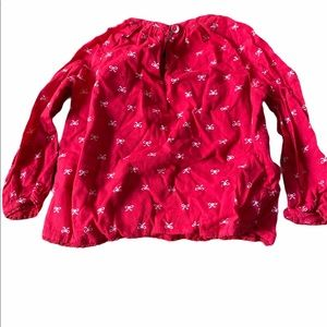 Old Navy Baby Girls Size 12-18m Red Shirt